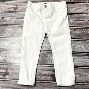 7 For Man Kind White Skinny Jeans Baby 18M